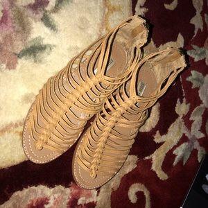 Steve Madden Honey Brown Braid Strap Sandal